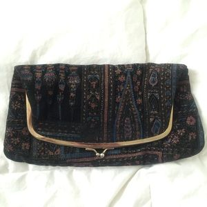 Vintage velvet clutch. Made in the USA